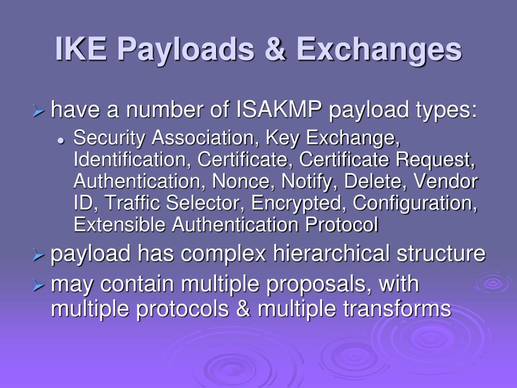IKE Payloads & Exchanges