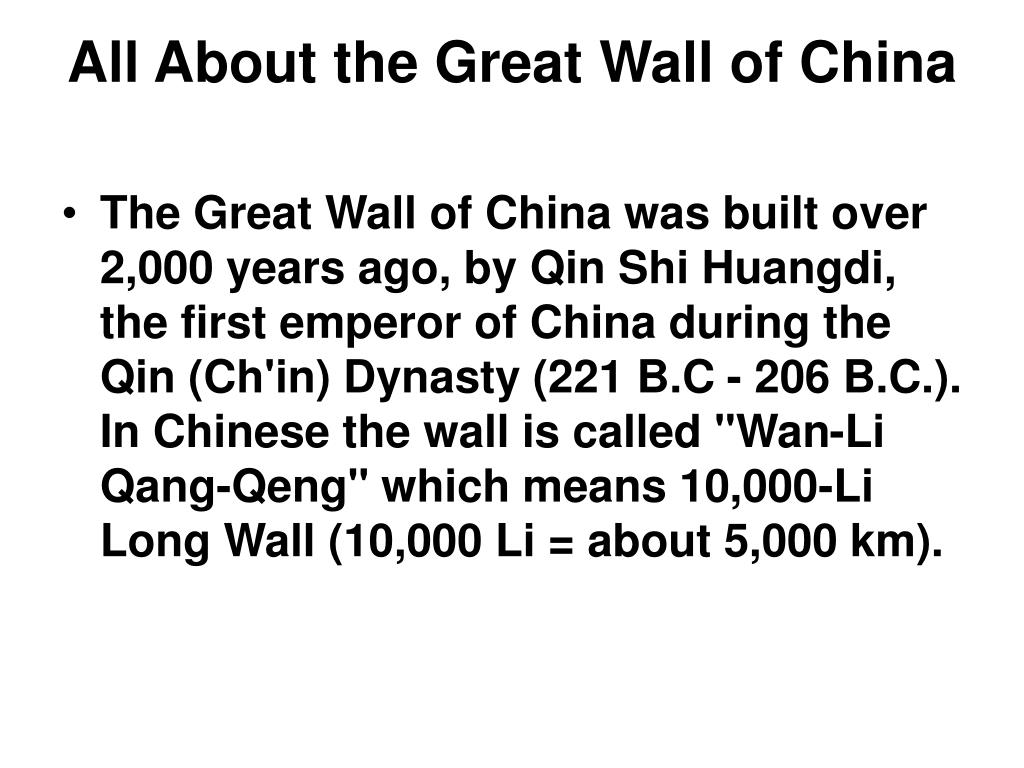 All About the Great Wall of China