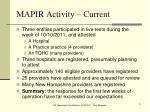 mapir activity current