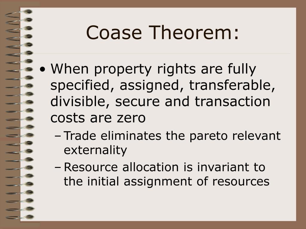 Coase Theorem: