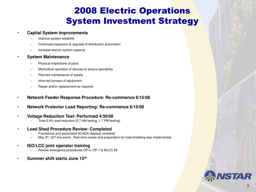2008 Electric Operations