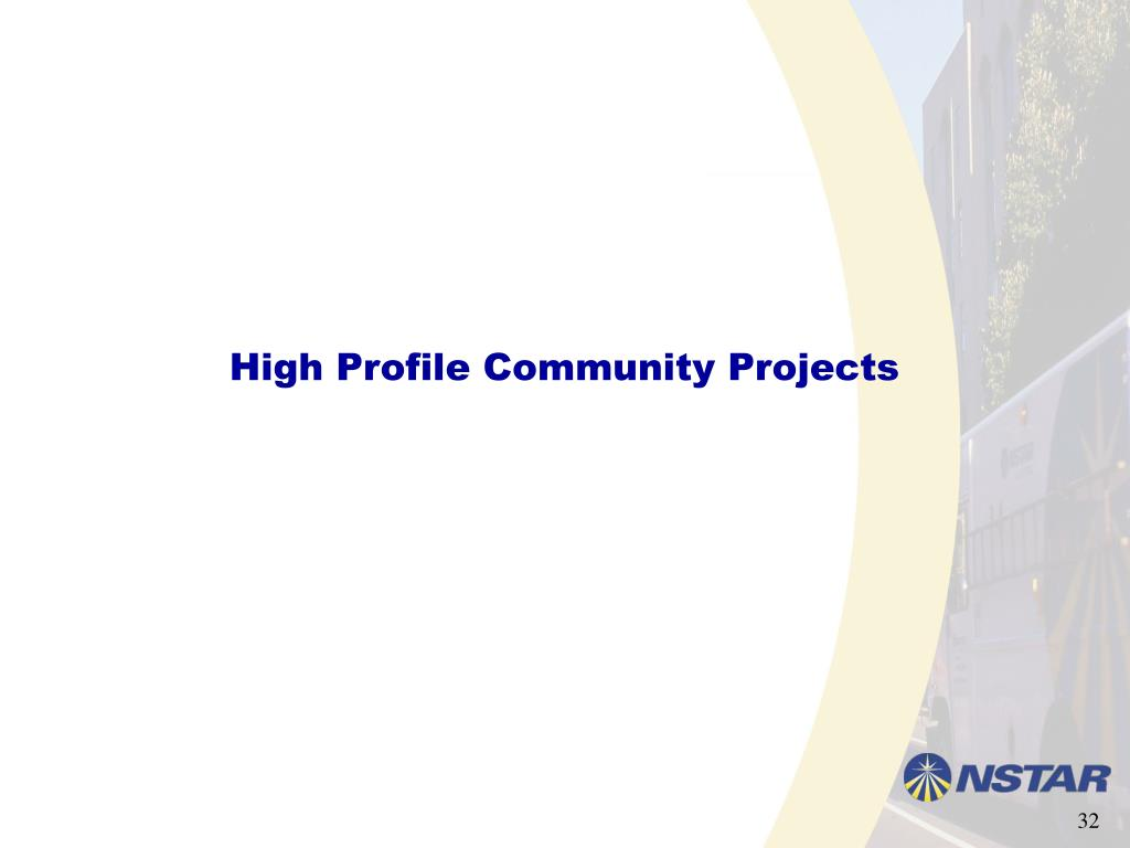 High Profile Community Projects