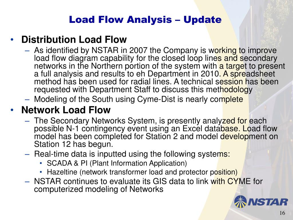 Load Flow Analysis – Update
