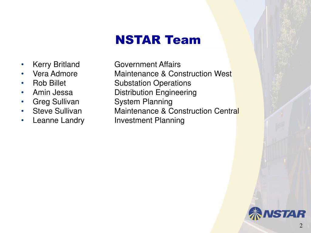 NSTAR Team