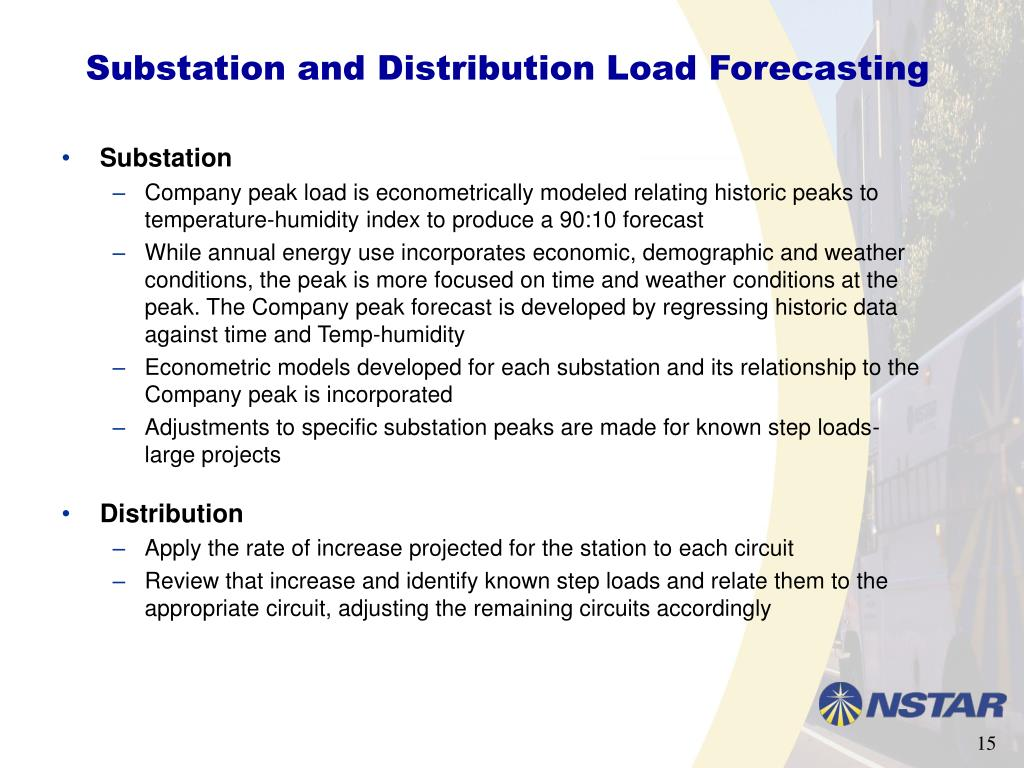 Substation and Distribution Load Forecasting
