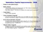substation capital improvements 2008
