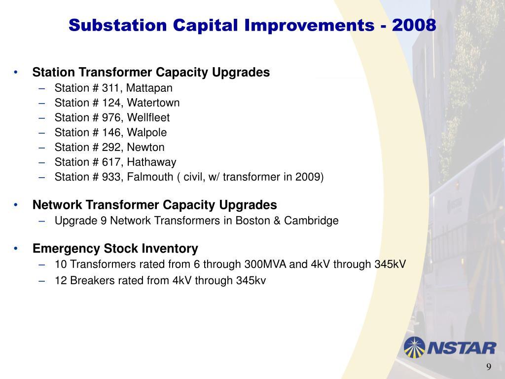 Substation Capital Improvements - 2008