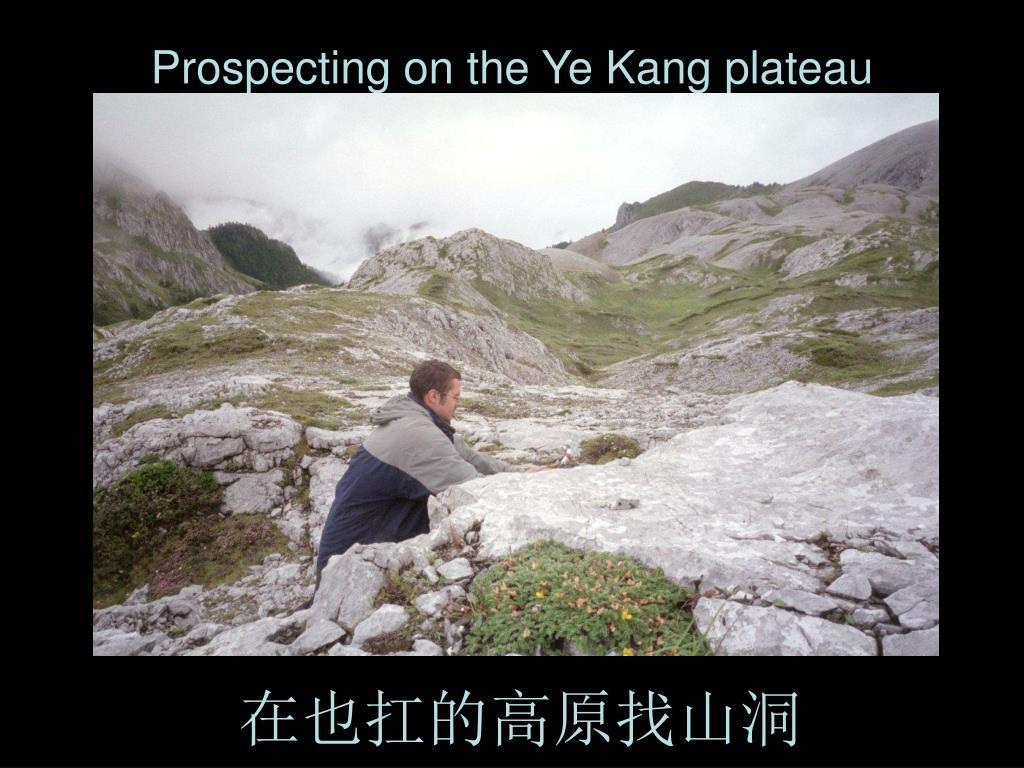 Prospecting on the Ye Kang plateau