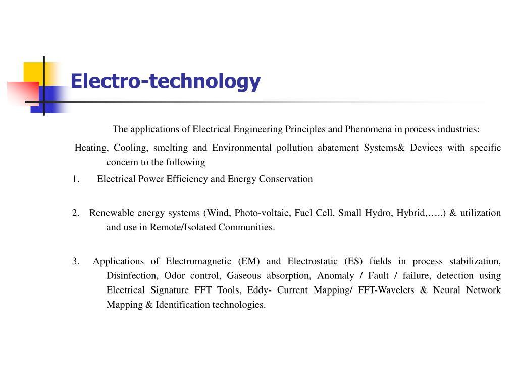 Electro-technology