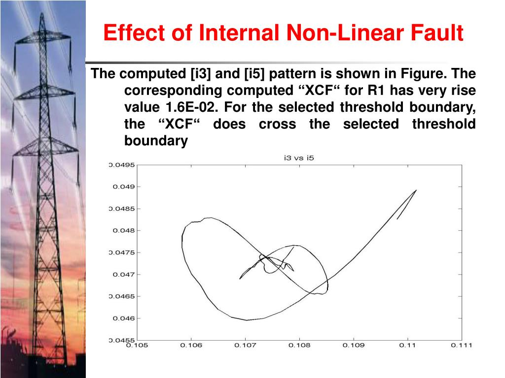 Effect of Internal Non-Linear Fault
