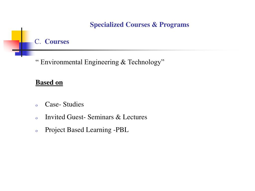 Specialized Courses & Programs