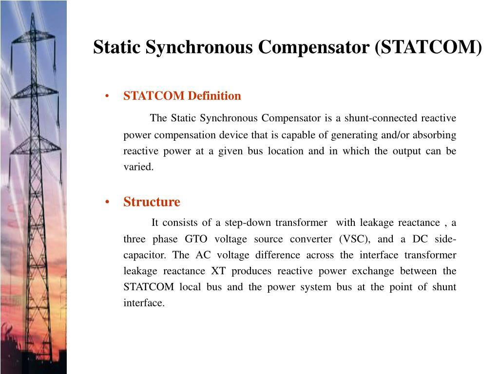 Static Synchronous Compensator (STATCOM)