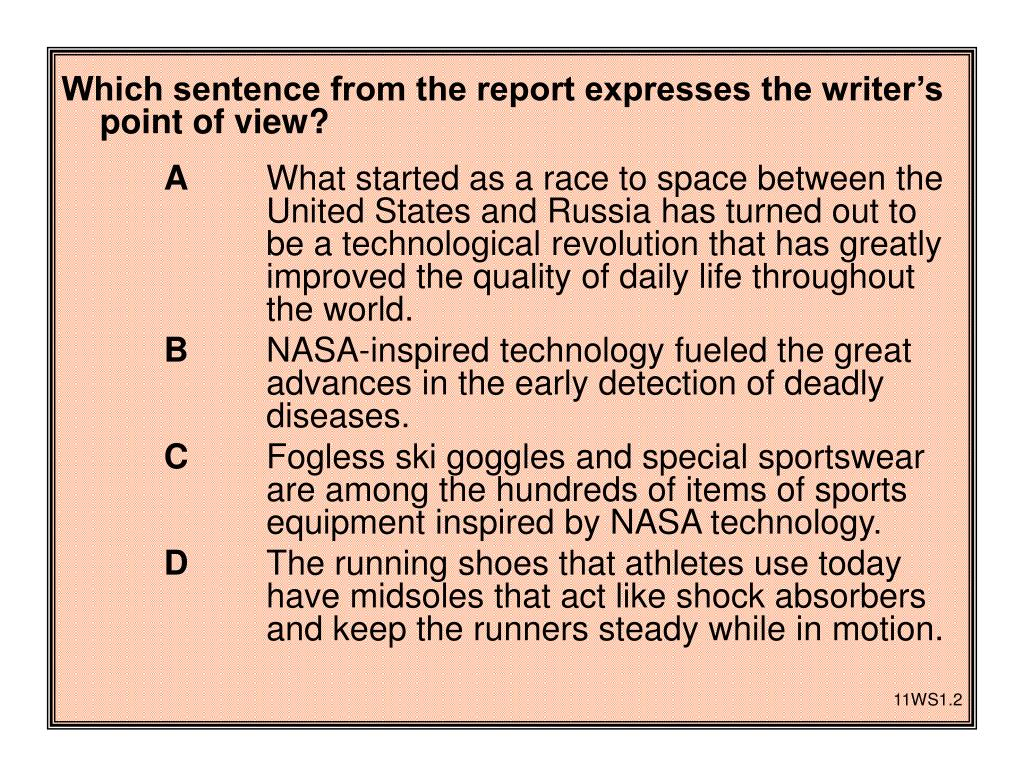 Which sentence from the report expresses the writer's point of view?
