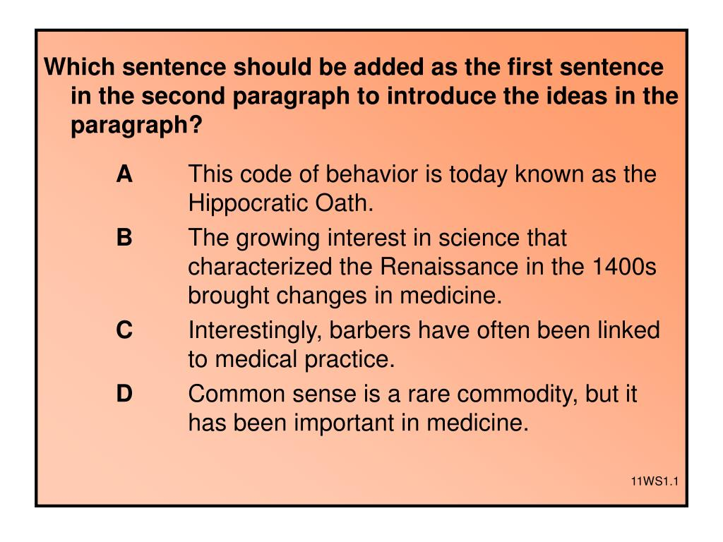Which sentence should be added as the first sentence in the second paragraph to introduce the ideas in the paragraph?