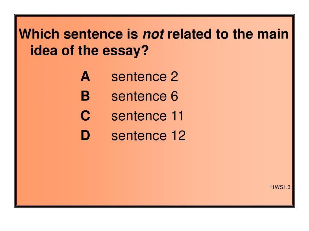 Which sentence is