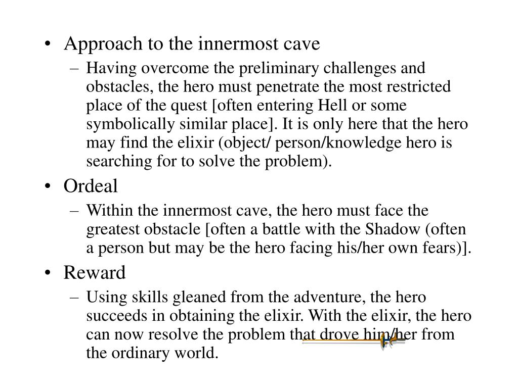 Approach to the innermost cave