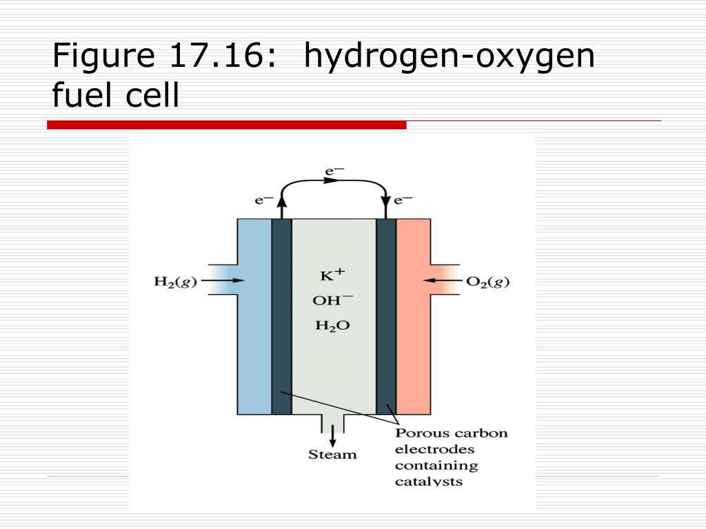 Figure 17.16:  hydrogen-oxygen fuel cell