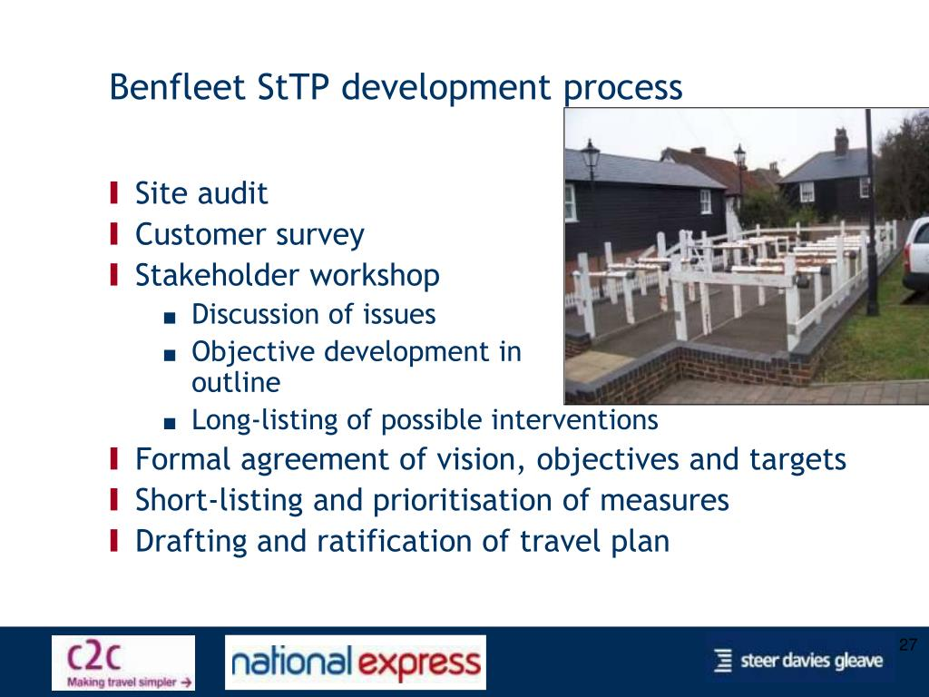 Benfleet StTP development process