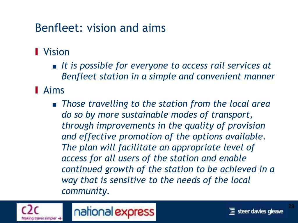Benfleet: vision and aims