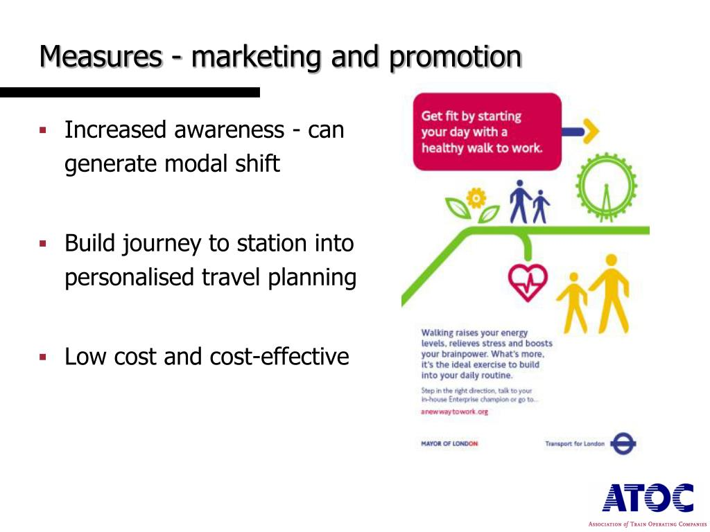 Measures - marketing and promotion