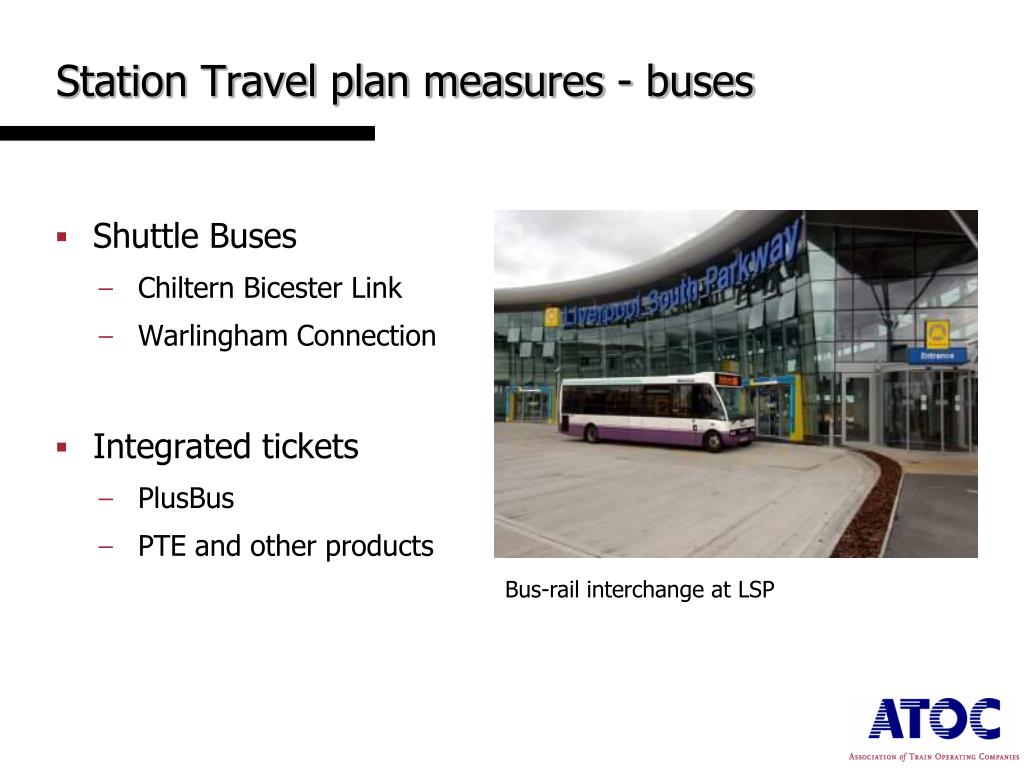 Station Travel plan measures - buses