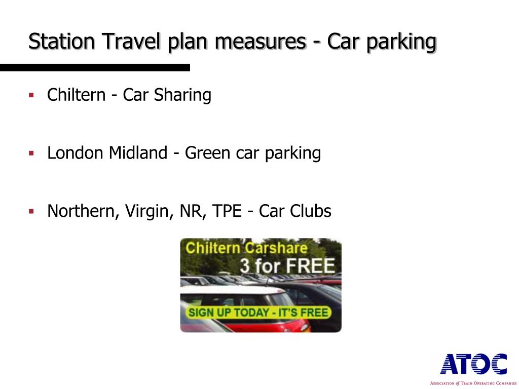 Station Travel plan measures - Car parking