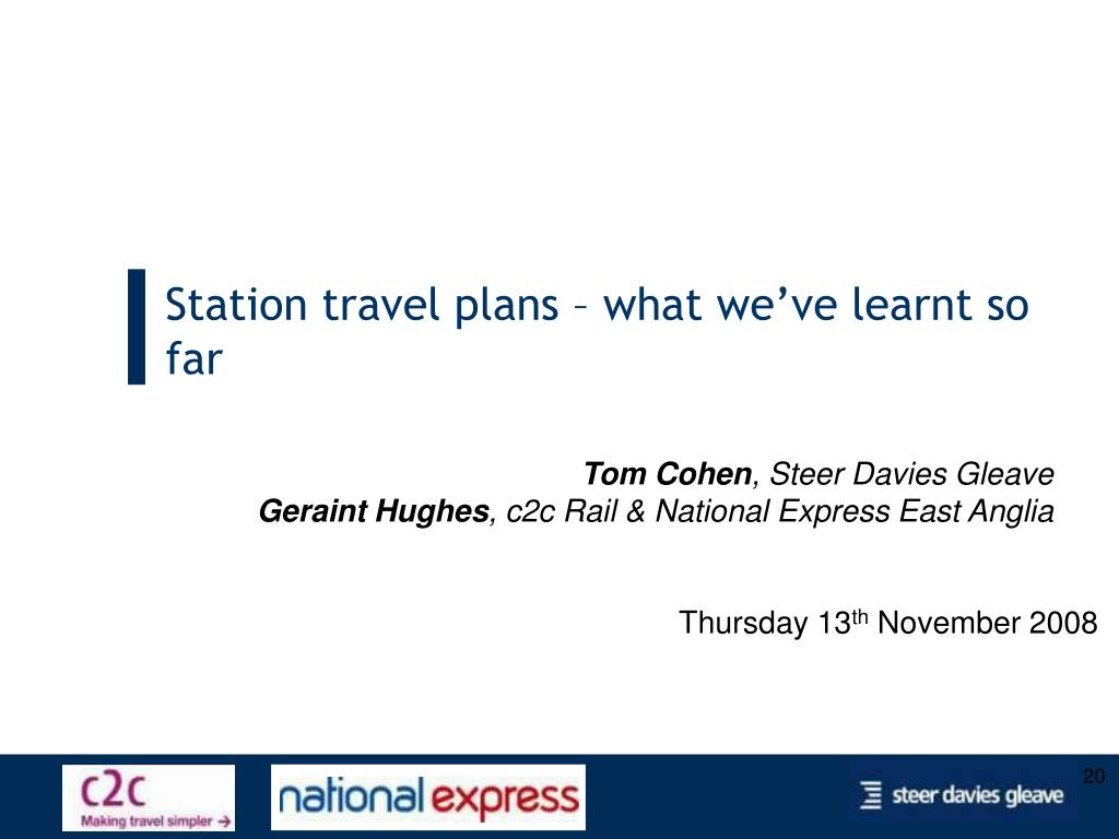 Station travel plans – what we've learnt so far