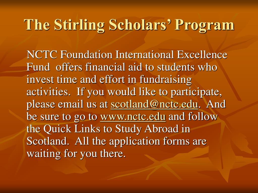 The Stirling Scholars' Program