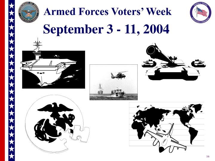 Armed Forces Voters' Week