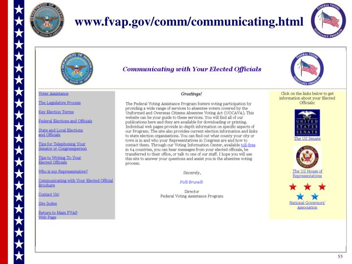 www.fvap.gov/comm/communicating.html
