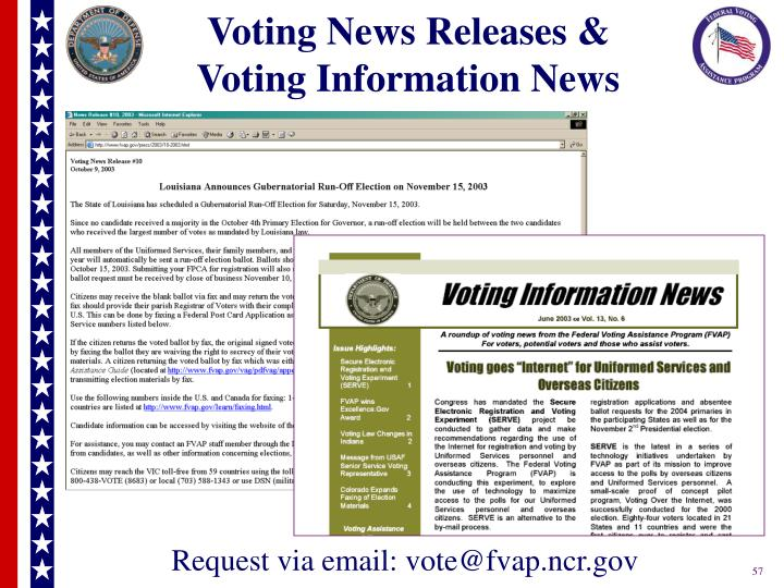 Voting News Releases &
