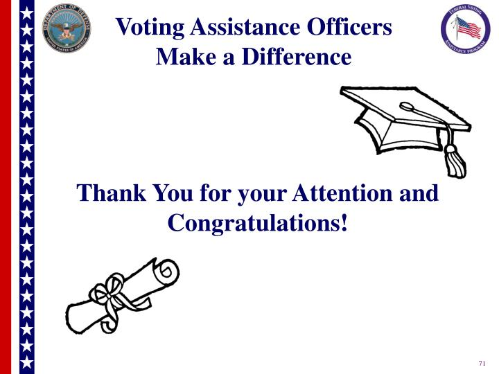 Voting Assistance Officers