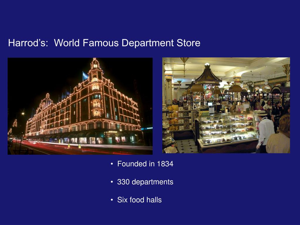 Harrod's:  World Famous Department Store