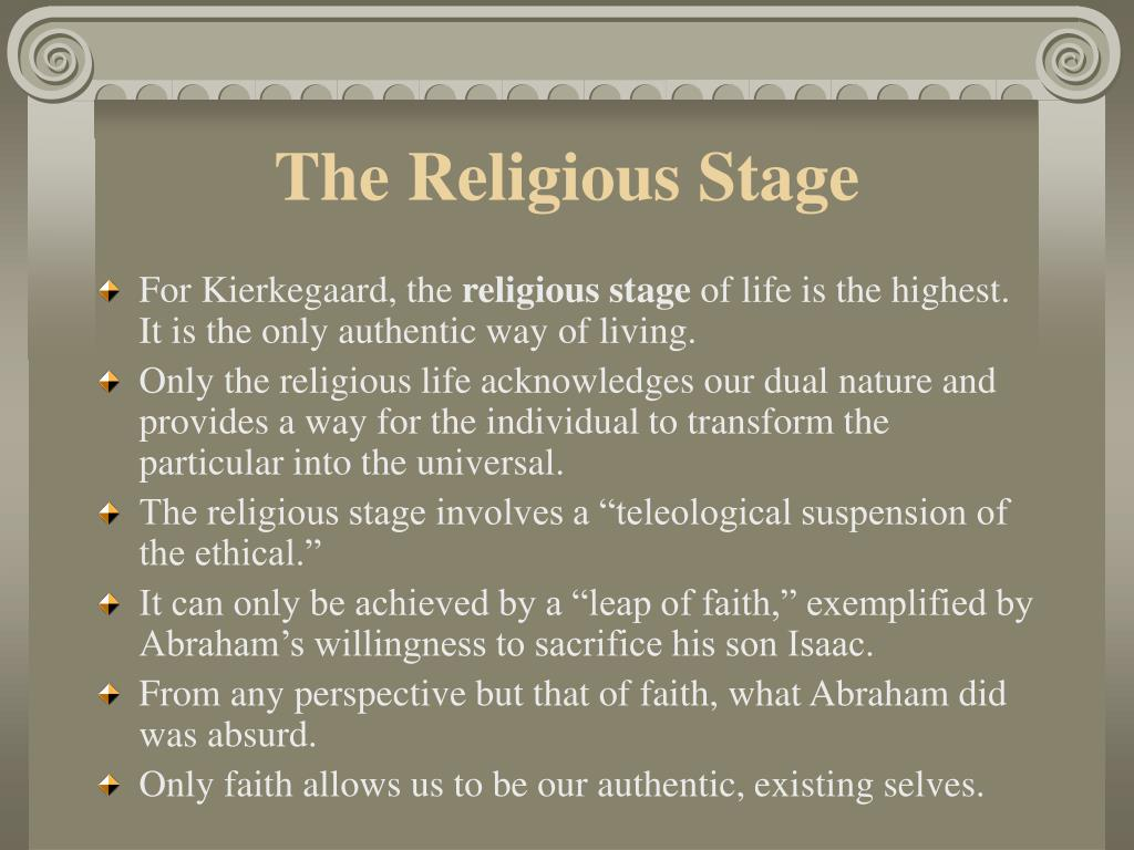The Religious Stage