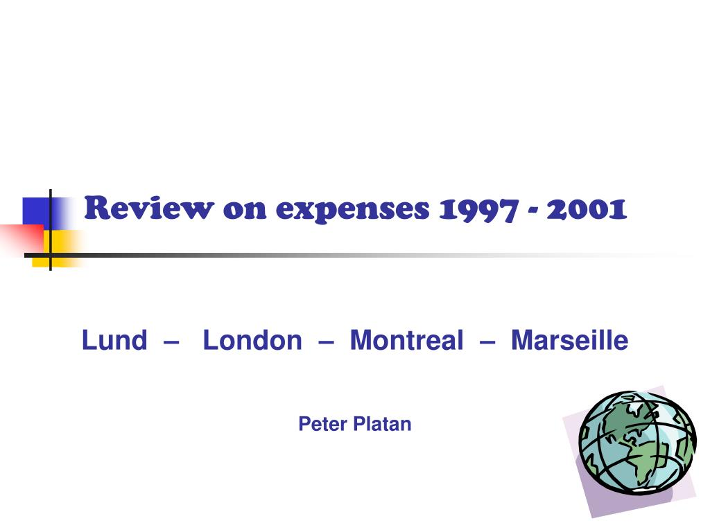 review on expenses 1997 2001