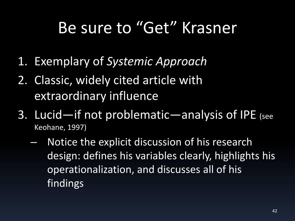 "Be sure to ""Get"" Krasner"