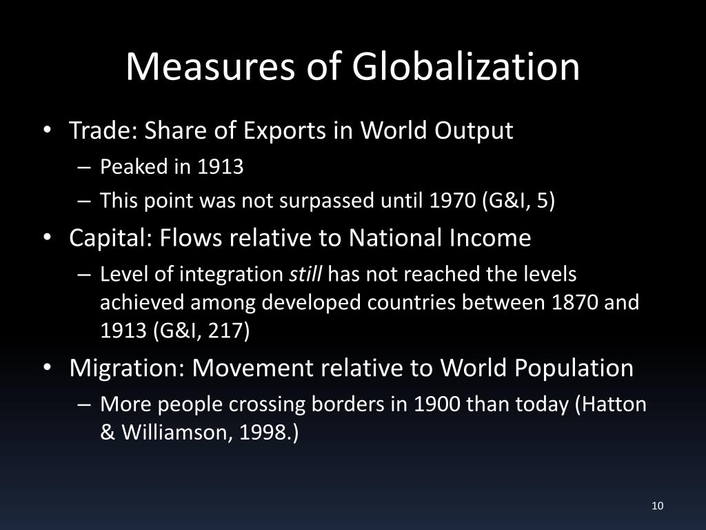 Measures of Globalization