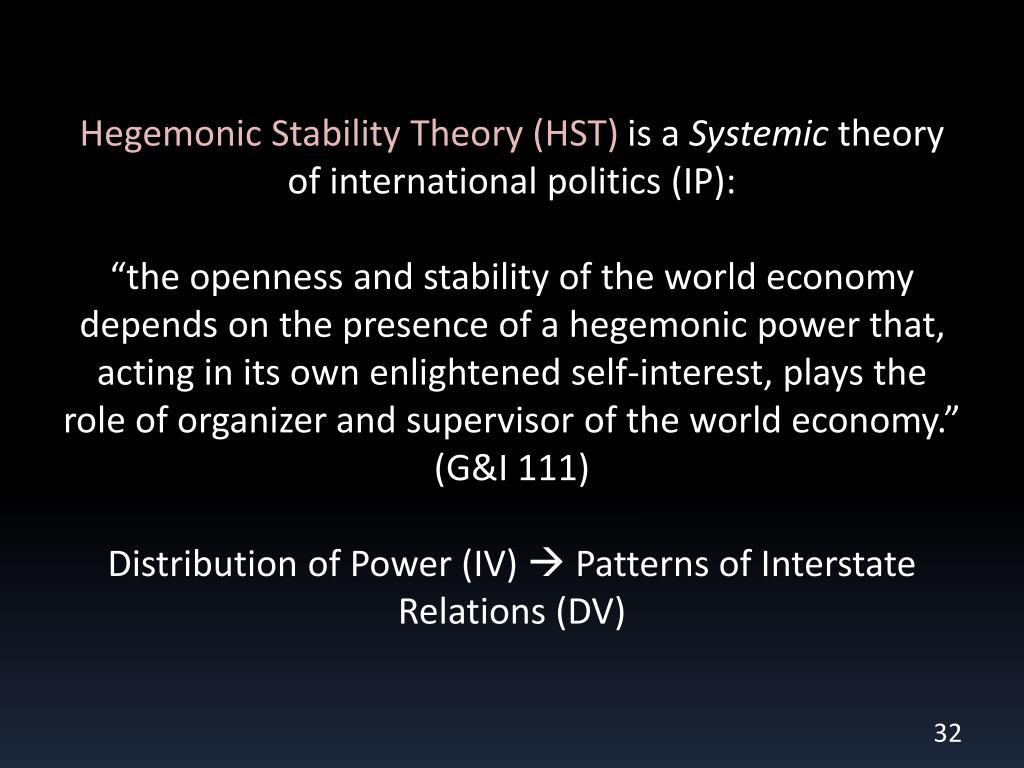 Hegemonic Stability Theory (HST)