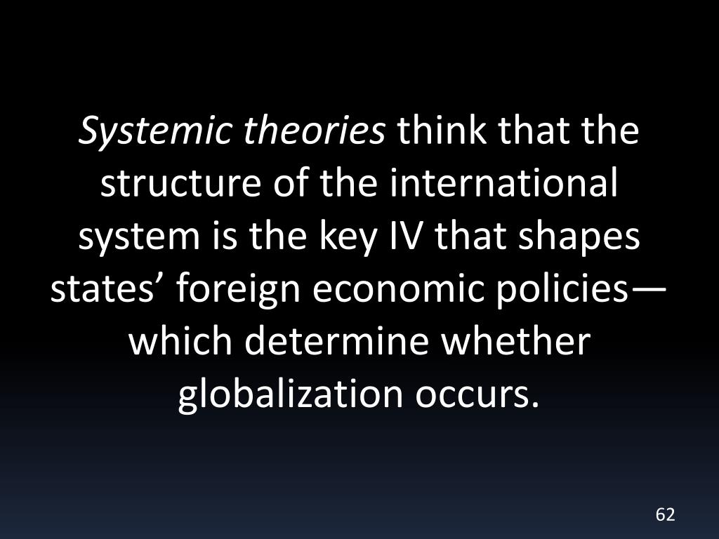Systemic theories
