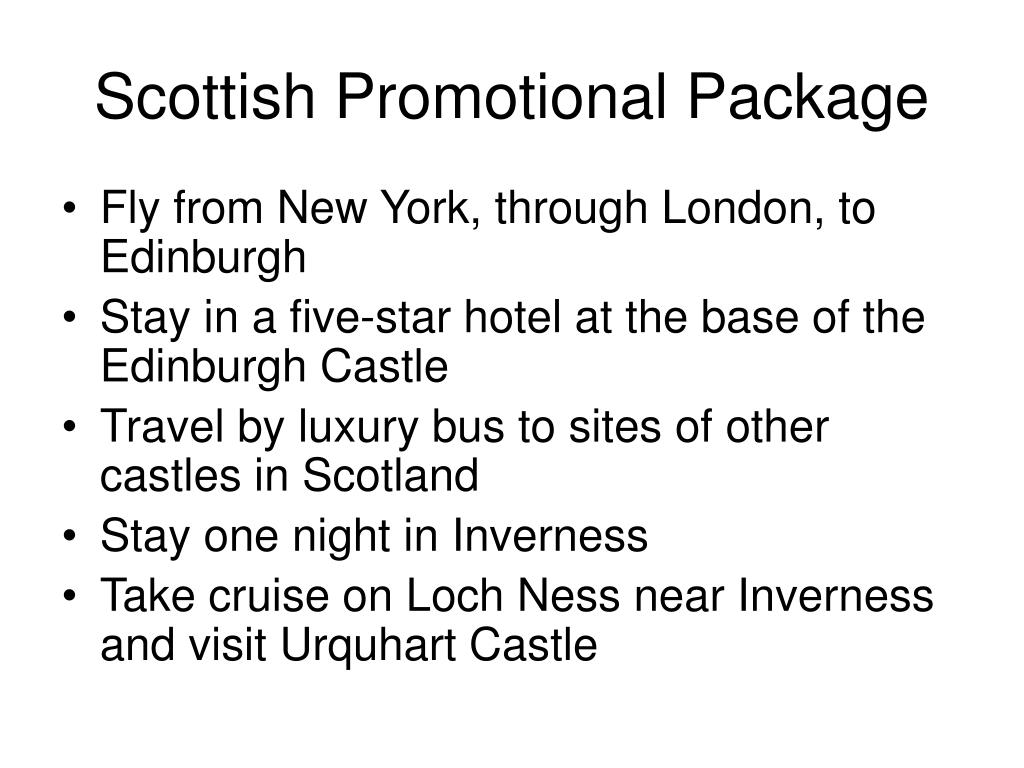 Scottish Promotional Package