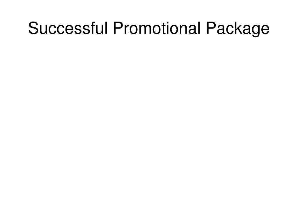 Successful Promotional Package