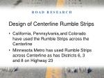 design of centerline rumble strips15