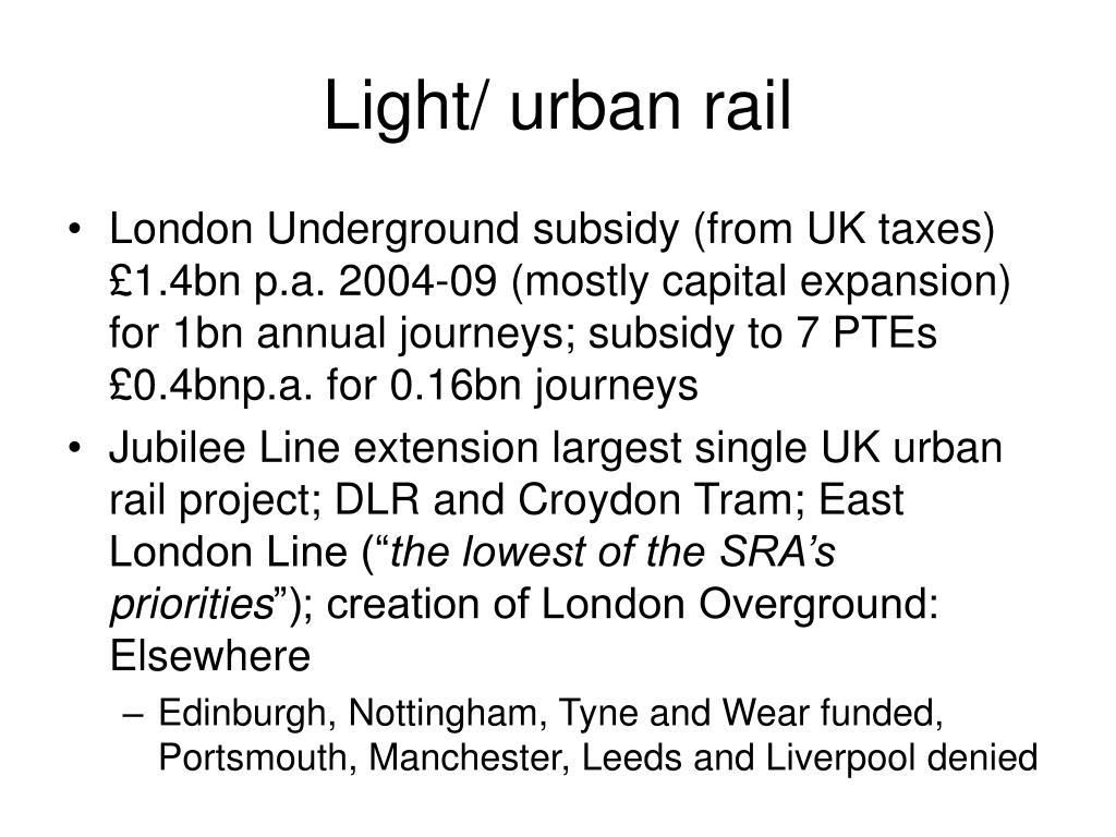 Light/ urban rail