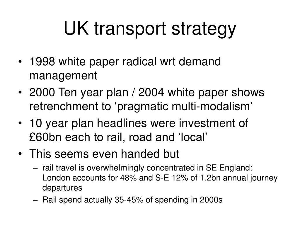 UK transport strategy