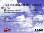 drive time populations mapinfo