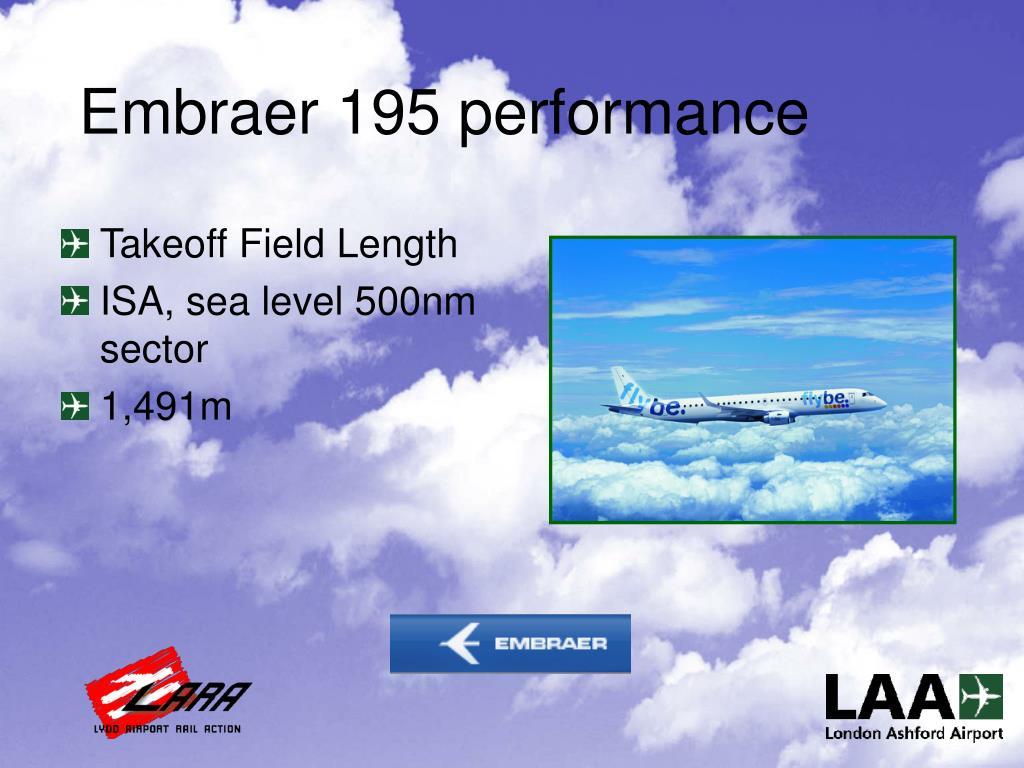 Embraer 195 performance