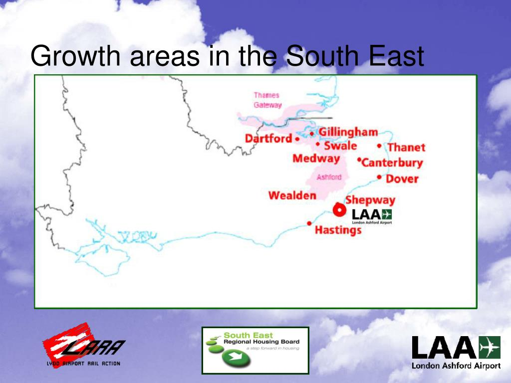 Growth areas in the South East