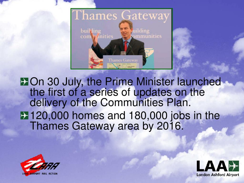 On 30 July, the Prime Minister launched the first of a series of updates on the delivery of the Communities Plan.