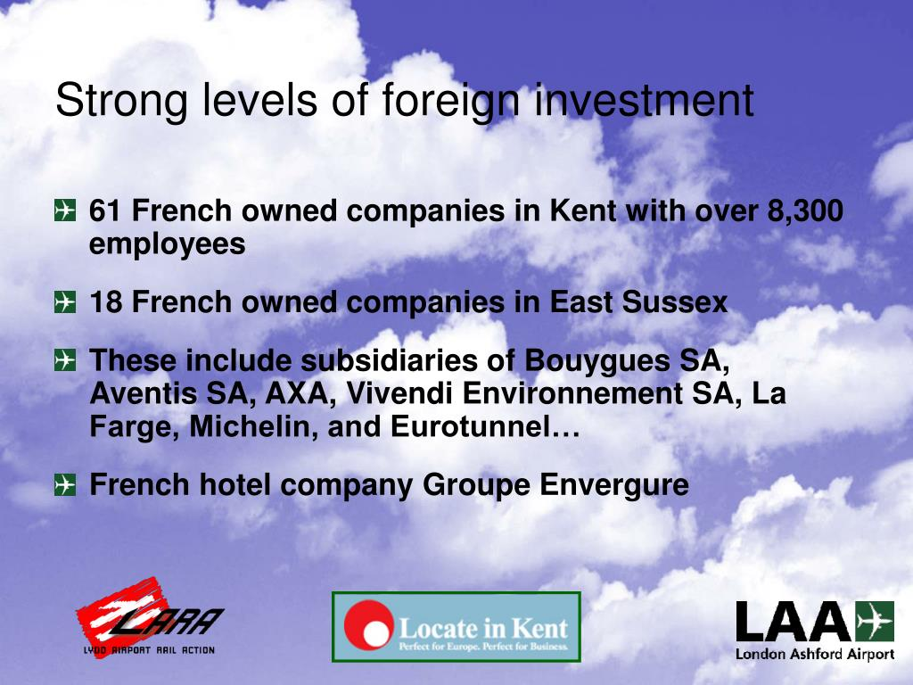 Strong levels of foreign investment