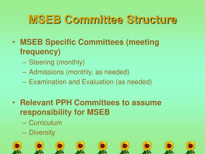 MSEB Committee Structure